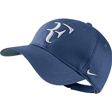 9fdebf43 ... shopping nike mens roger federer rf hybrid tennis hat ocean fog blue  white 24348 4a1af