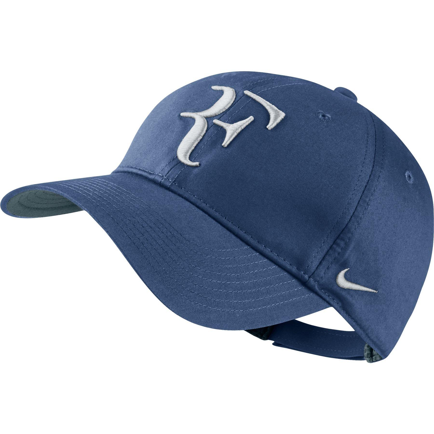Nike Mens Roger Federer RF Hybrid Tennis Hat Ocean Fog Blue/White