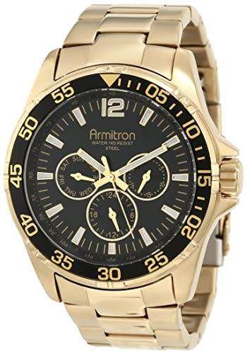 Armitron Men s 20 4829BKGP Stainless Steel Watch