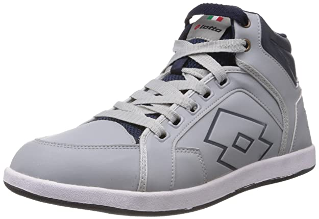 Lotto Men's Logo Plus Hi Running Shoes Men's Running Shoes at amazon