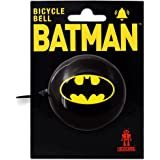 DC Comics - Superheld - Batman Logo Retro Fahrradklingel aus massivem Stahl - schwarz - LOGOSHIRT