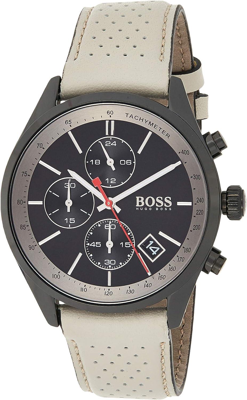 Hugo BOSS Reloj Cronógrafo para Hombre de Cuarzo con Correa en Cuero 1513562