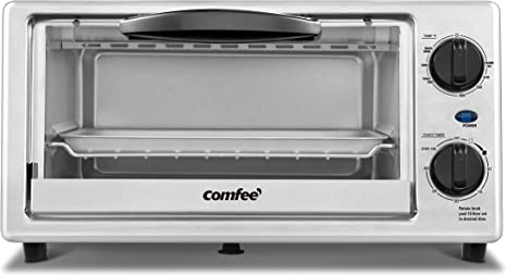 Multi-function Stainless Steel Finish with Timer Toast Toaster Oven 4 Slice