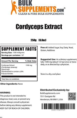 Bulksupplements Cordyceps Powder 250 Grams