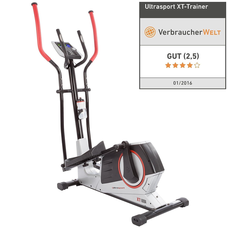Ultrasport Bicicleta elíptica XT-Trainer 1000A con sensores de pulso de mano, bidón incluido: Amazon.es: Deportes y aire libre