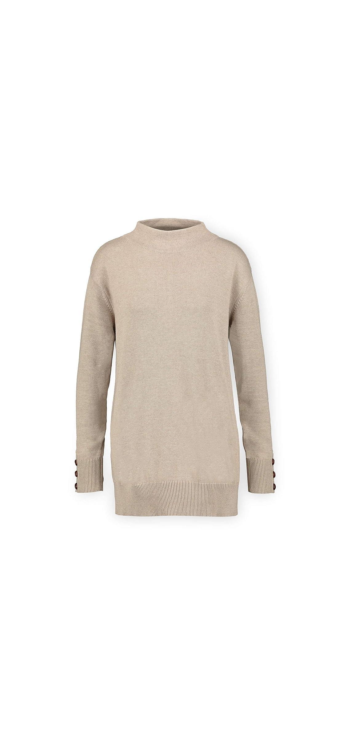 Women's Long Sleeve Funnel Neck Tunic Sweater