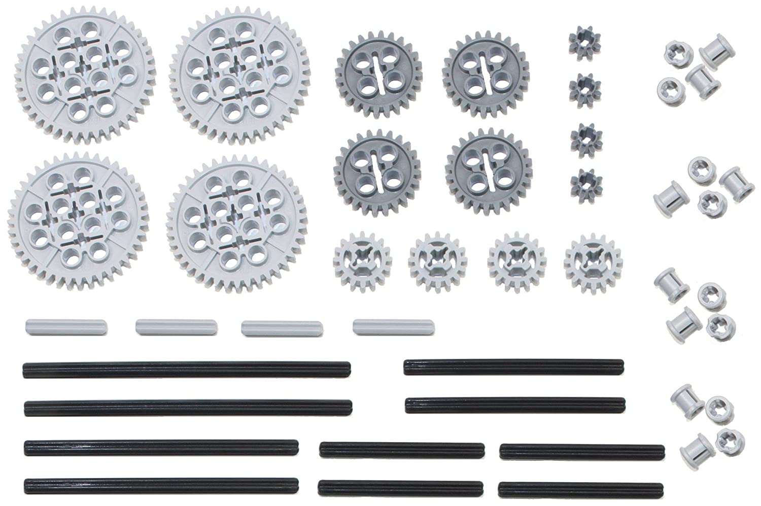 Works with Mindstorms NXT EV3 Bionicles and More Lego Creations! Lego 46pc Technic Gear /& axle Set