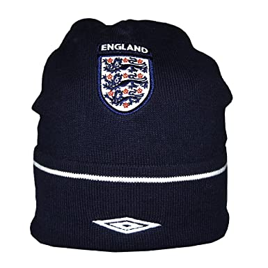 Adult Umbro England Warm Ski   Skate Roll Up Beanie   Winter Hat One Size  Blue 33a202bca568