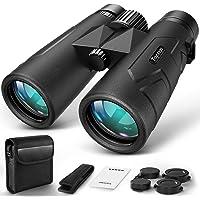 10x42 Compact Binoculars for Adults Durable Full-Size Clear Binoculars, BaK-4 Roof Prism Lightweight Binoculars for Bird…
