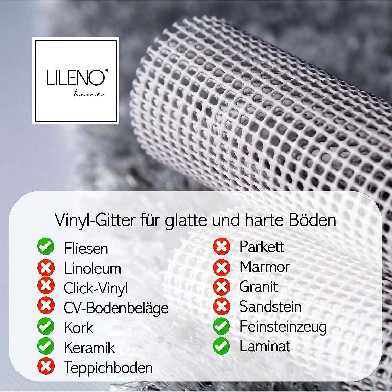 60 x 120 cm Lileno Home Tapis antid/érapant en non-tiss/é Compatible avec tous les sols et tapis Wei/ß