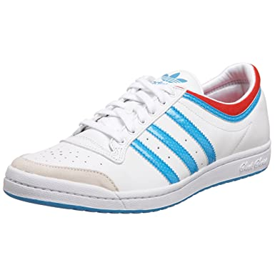 adidas Originals Women's Top Ten Low Sleek Sneaker,White/Cyan/Red,9