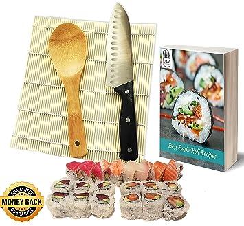 Amazon De Sushi Set Sushi Set Sushi Rolle Edelstahl Messer