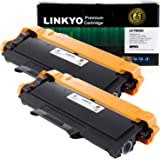 2-Pack LINKYO Compatible Replacement for Brother TN450 TN-450 TN420 High Yield Toner Cartridge (Black, High Yield)