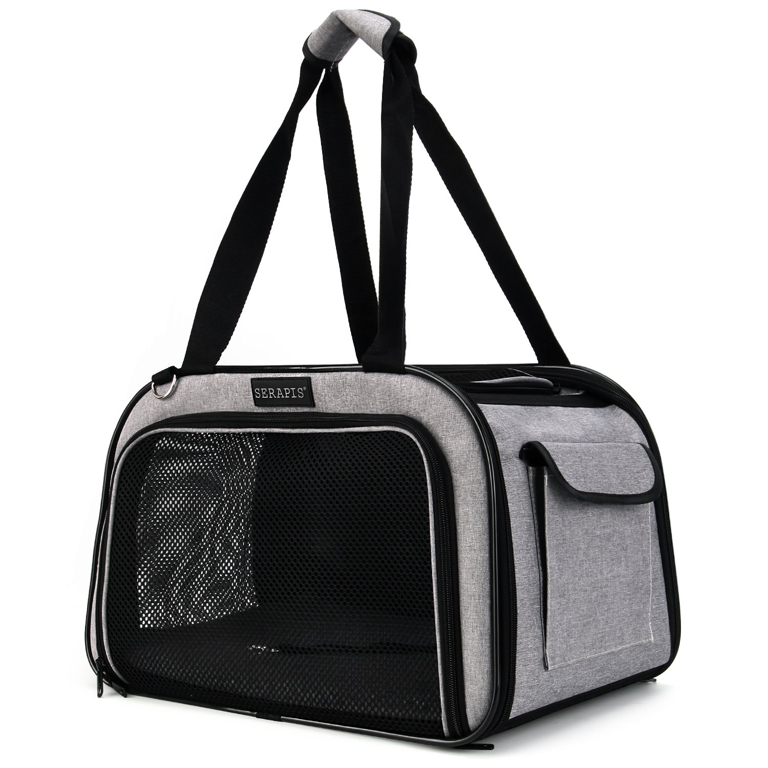 Serapis Airline Approved Pet Carriers,Soft-Sided Foldable Portable Kennel Designed for Travel, Under Seat Compatibility, Perfect for Cats and Small Dogs,Outdoor & Indoor(Medium)