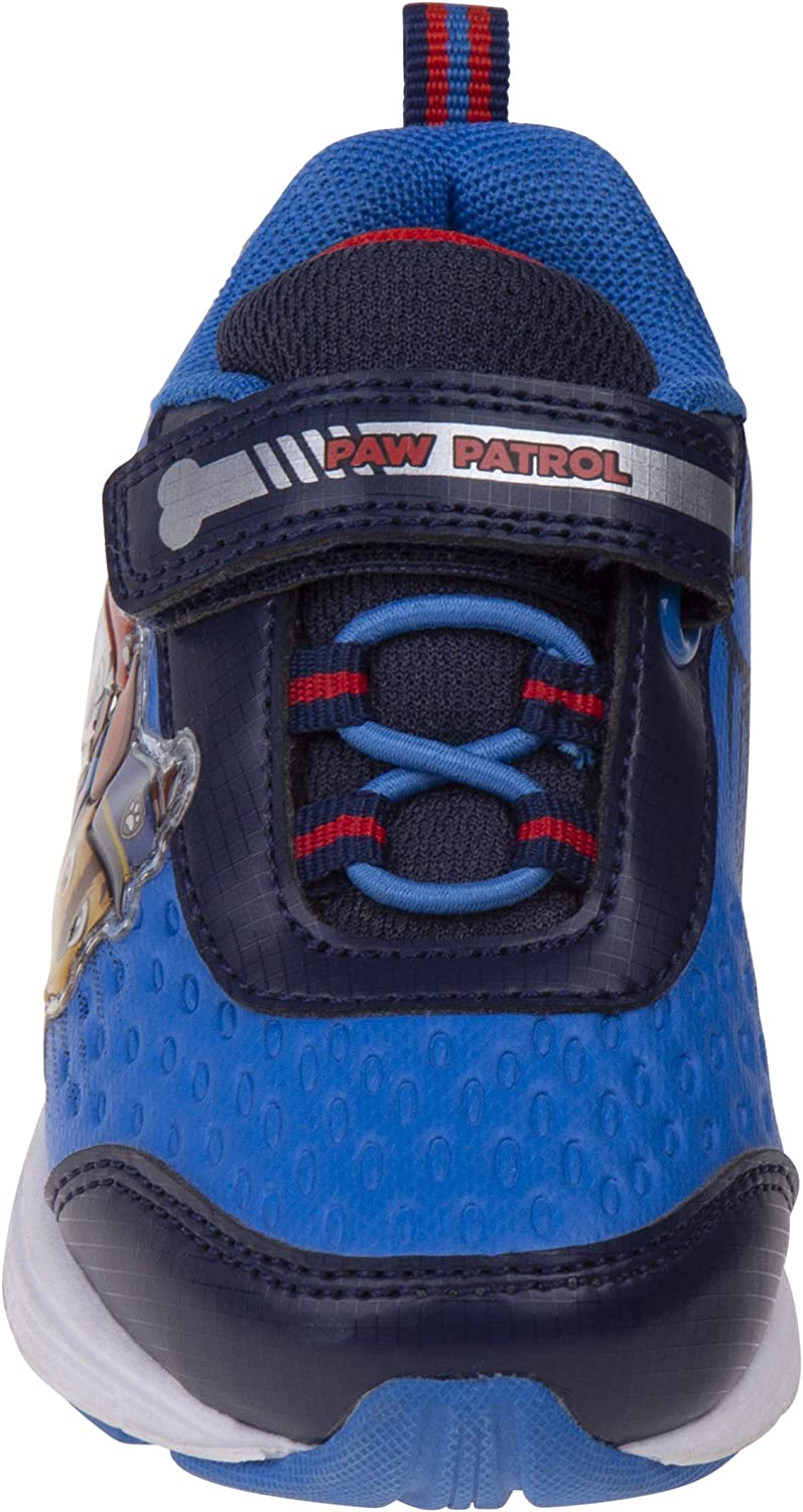 Velcro Straps Paw Patrol Boys Sneakers with Chase /& Marshall Red /& Navy Blue