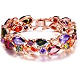 Yutii Swiss Cz 18K Rose Gold Plated Cuff & Kadaa Bracelet For Women