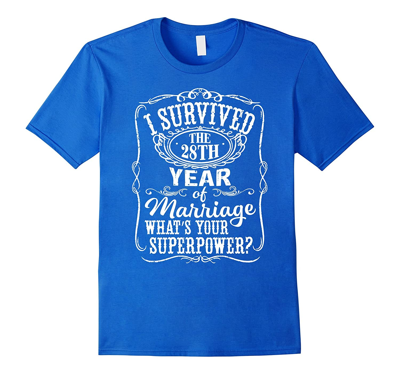 28th Wedding Anniversary Gift: 28 Years Wedding Marriage T-Shirt