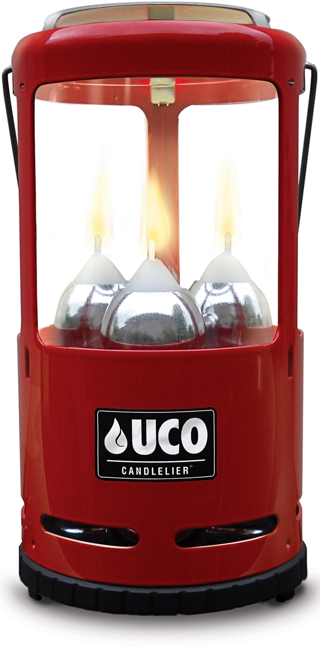 UCO Candlelier Deluxe Candle Lantern, Red