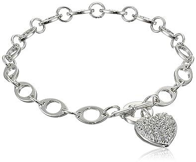 Elements Silver Heart Charm Toggle Sterling Silver Bracelet zjKEAuJ4