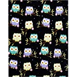 Owl Throw Blanket, Adorable Super-Soft Extra-Large Fluffy Owl Blanket for Adults, Kids, and Girls, Fleece Owl Blanket…