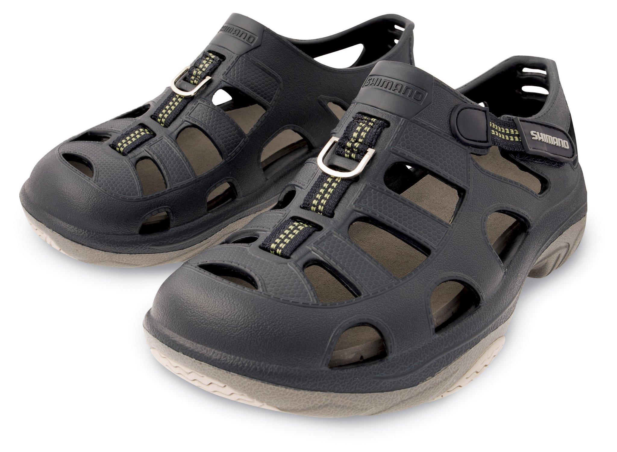 SHIMANO Evair Marine Fishing Shoes; Size 09; Navy/Gray by SHIMANO