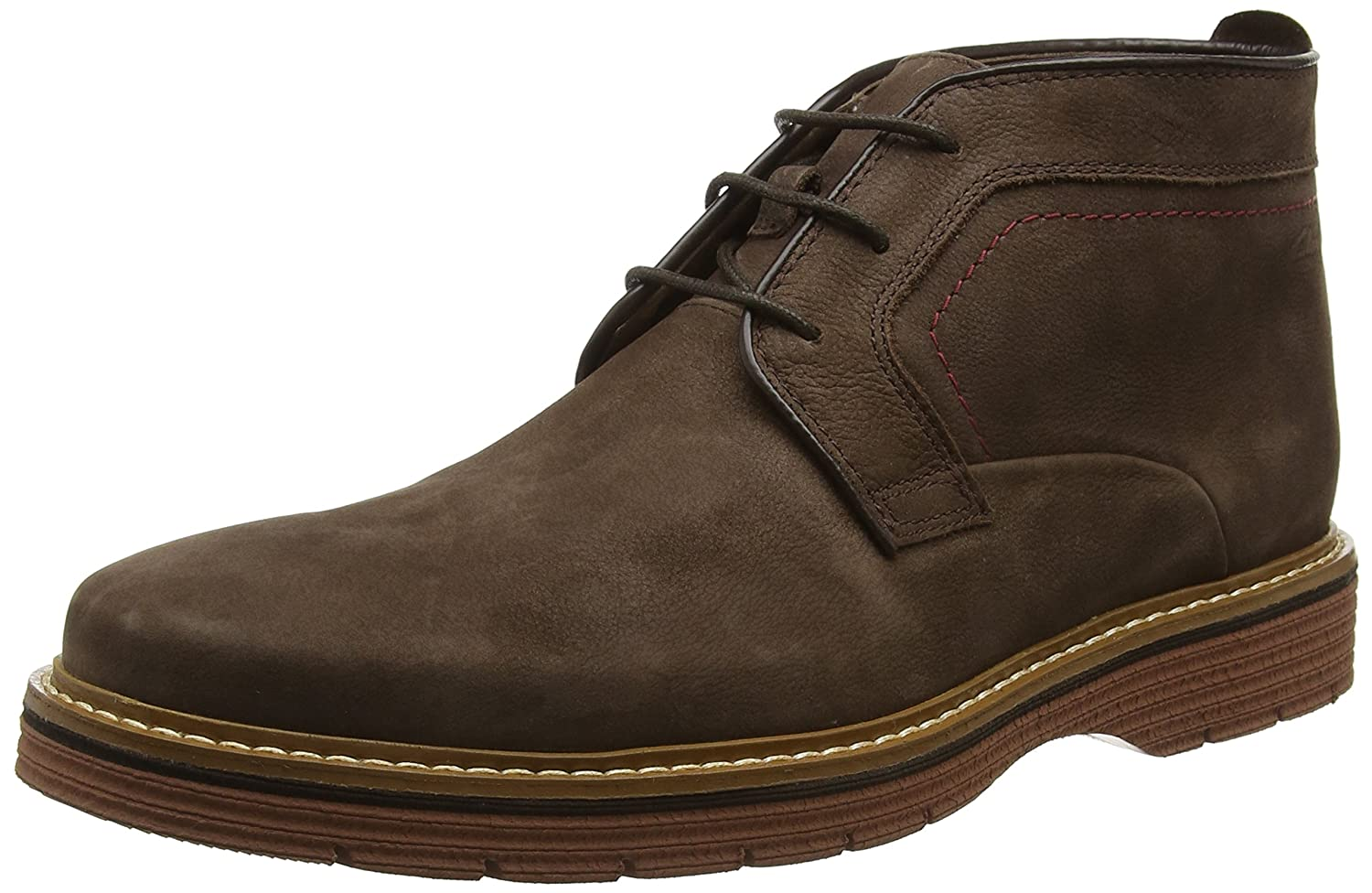 Clarks Newkirk Top, Botines para Hombre, Marrón (Dark Brown Nub), 43 EU