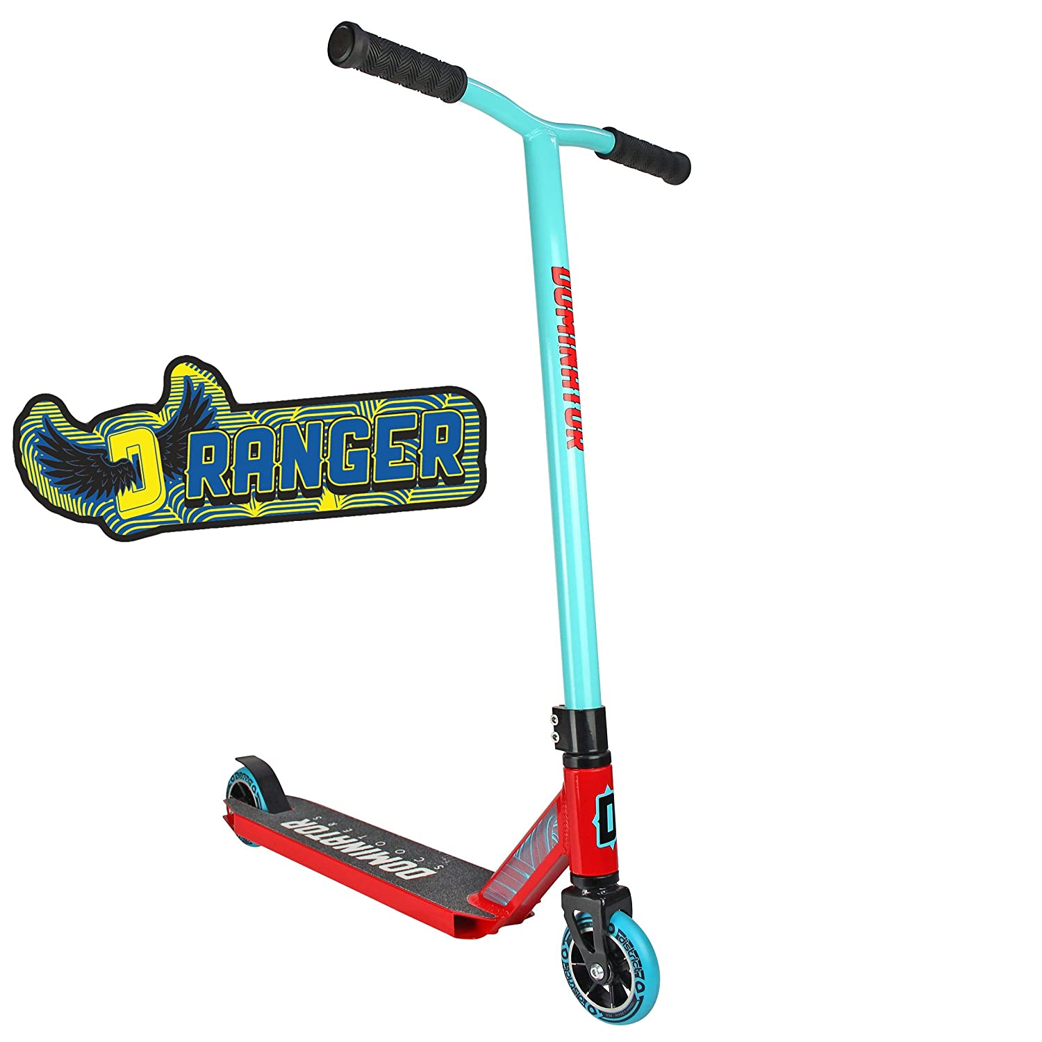 Dominator Ranger Pro Scooter - Stunt Scooter - Trick Scooter (Turquoise/Red) Dominator Scooters