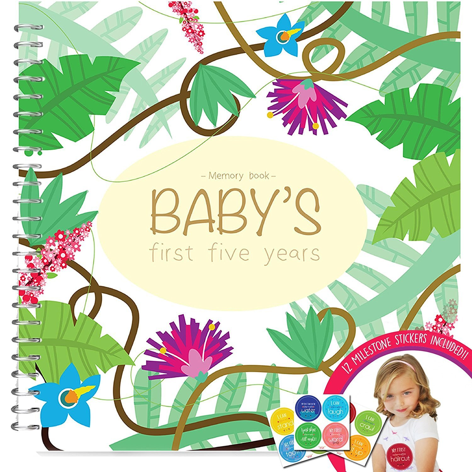 Memory Book Of The First Five Years Of Your Baby Girl - Keep Close All Of The First Memories Of Your Children In A Hard Cover Photo Album And Make The Perfect Keepsake For Mom Or Dad Unconditional Rosie S5JUNGLE