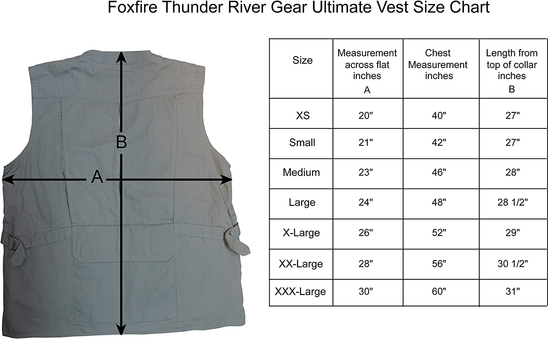 Foxfire Thunder River Gear Ultimate Travel Hiking Safari Photo Vest