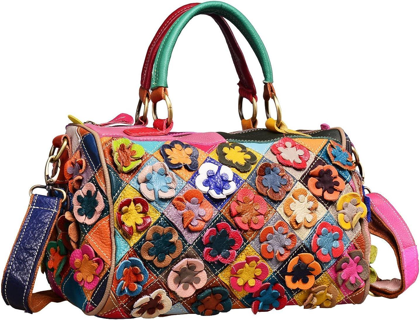 Womens Patterned Check Floral Tote Bag Ladies Handbag Fashion Shoulder Bag
