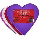 KINREX Valentine's Day Foam Hearts – Multicolor Large Foam Heart Shapes for Girlfriend, Boyfriend, Kids & Adults – Valentine