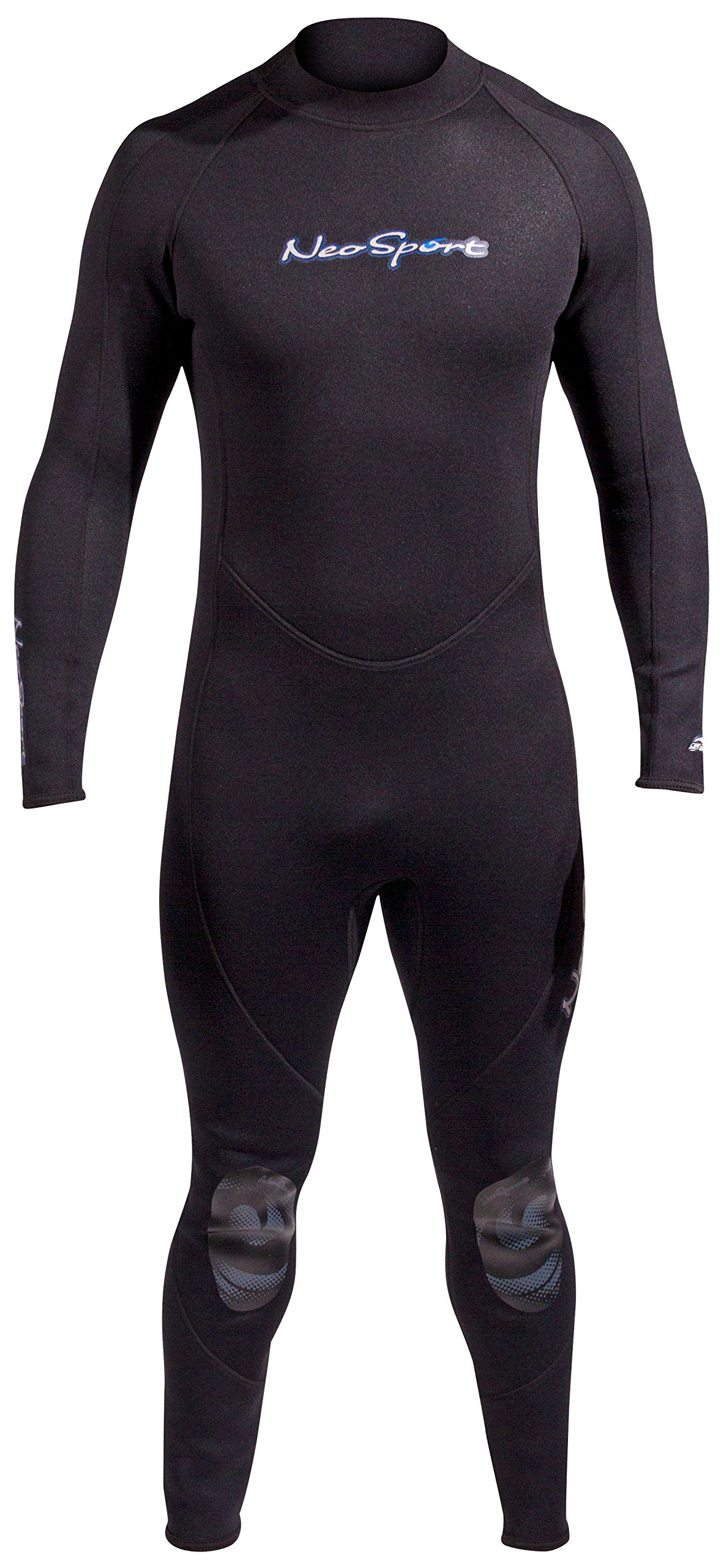 NeoSport Wetsuits Men's Premium Neoprene 5mm Full Suit, Black, Small - Diving, Snorkeling & Wakeboarding by Neo-Sport