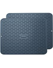 To encounter Silicone Drying Mat -Flexible Silicone Dish Draining Mat - Sink Mat - Heat Resistant Large Silicone Counter top Mat - Silicone Trivet