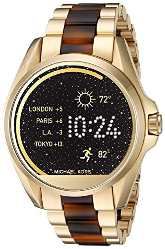 Michael Kors Access Bradshaw Gold-Tone And Acetate Smartwatch