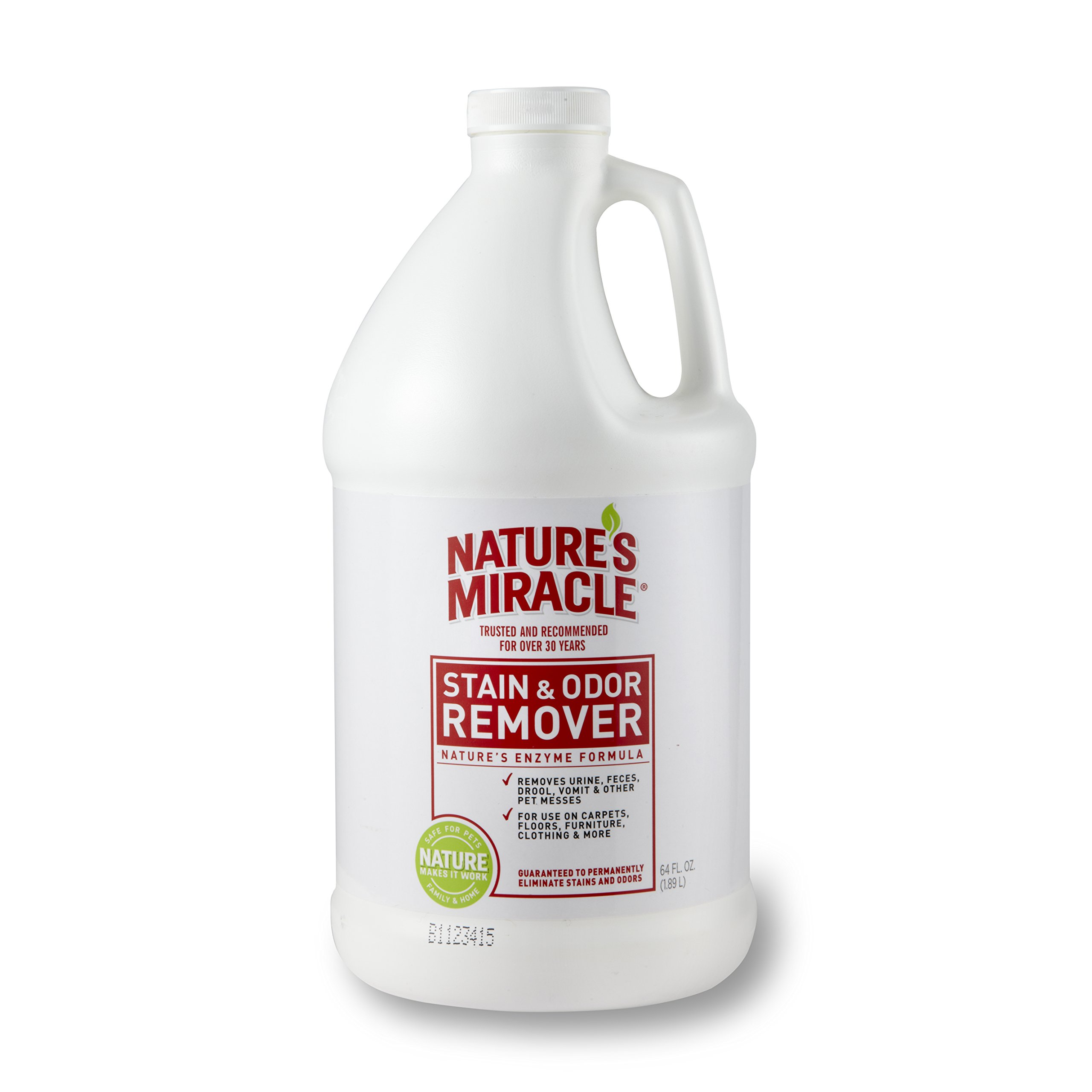 Nature's Miracle Stain and Odor Remover 64oz (.5 Gallon) by Nature's Miracle
