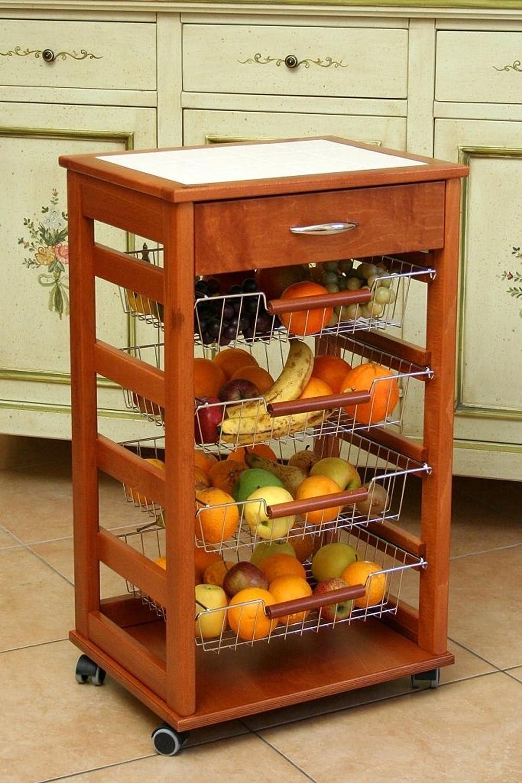 MASLEGNO Vesuvio 380038 mueble de cocina (madera maciza, con cestas ...