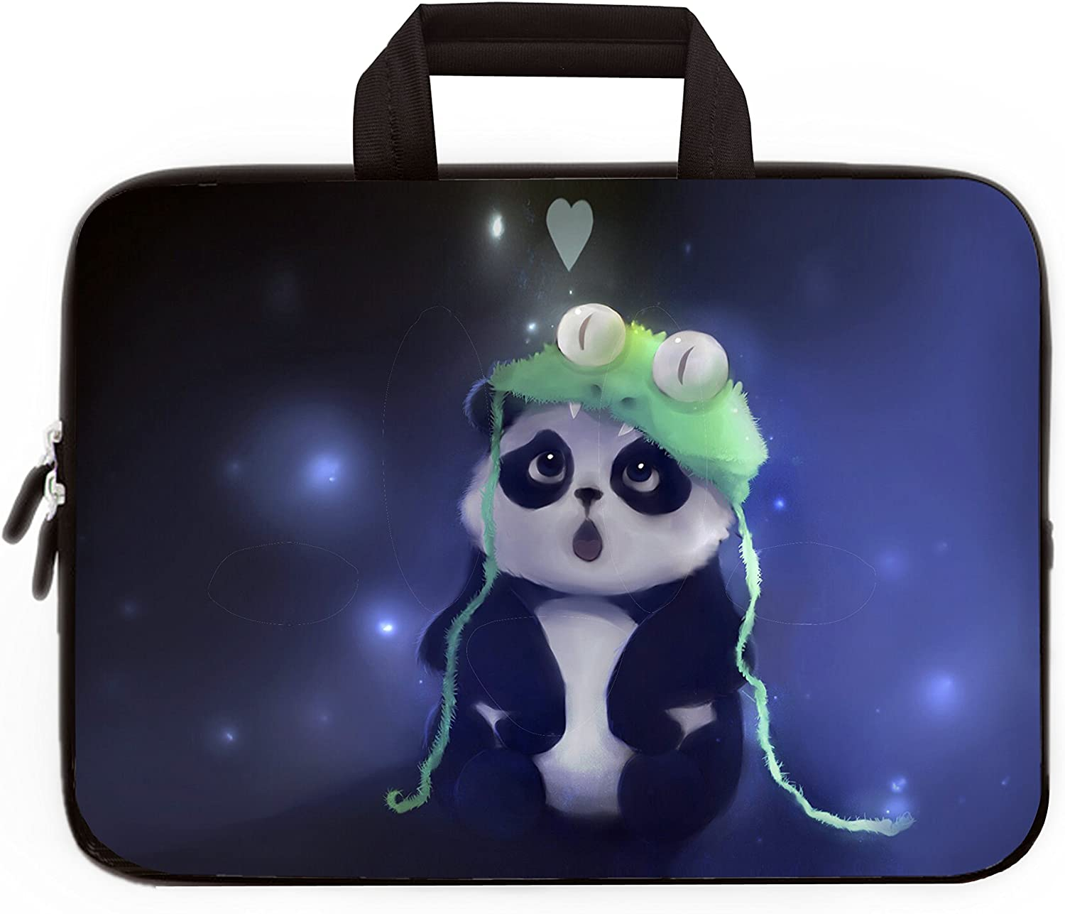 HAPPYLIVE SHOPPING 11 11.6 12 Inch Multi-Color Water-Resistant Laptop Sleeve Bag with Handle/Notebook Computer Case/Ultrabook Briefcase Carrying Bag (Cute Panda)
