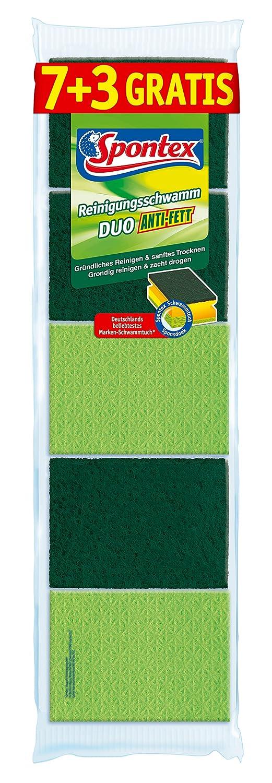 Spontex Lot de packs de 10x30  /éponges de nettoyage double face anti-graisse//absorbante