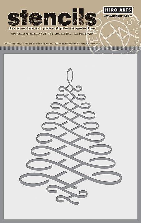 Amazing Hero Arts SA077 Calligraphic Tree Stencil Card Making Kit