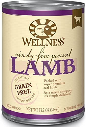 Wellness 95 Natural Wet Grain Free Canned Dog Food, 13.2-Ounce Can Pack Of 12