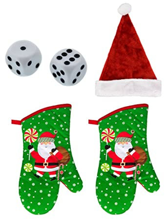 Amazon.com: December Dice Game - Dirty Dice Christmas Gift Exchange ...