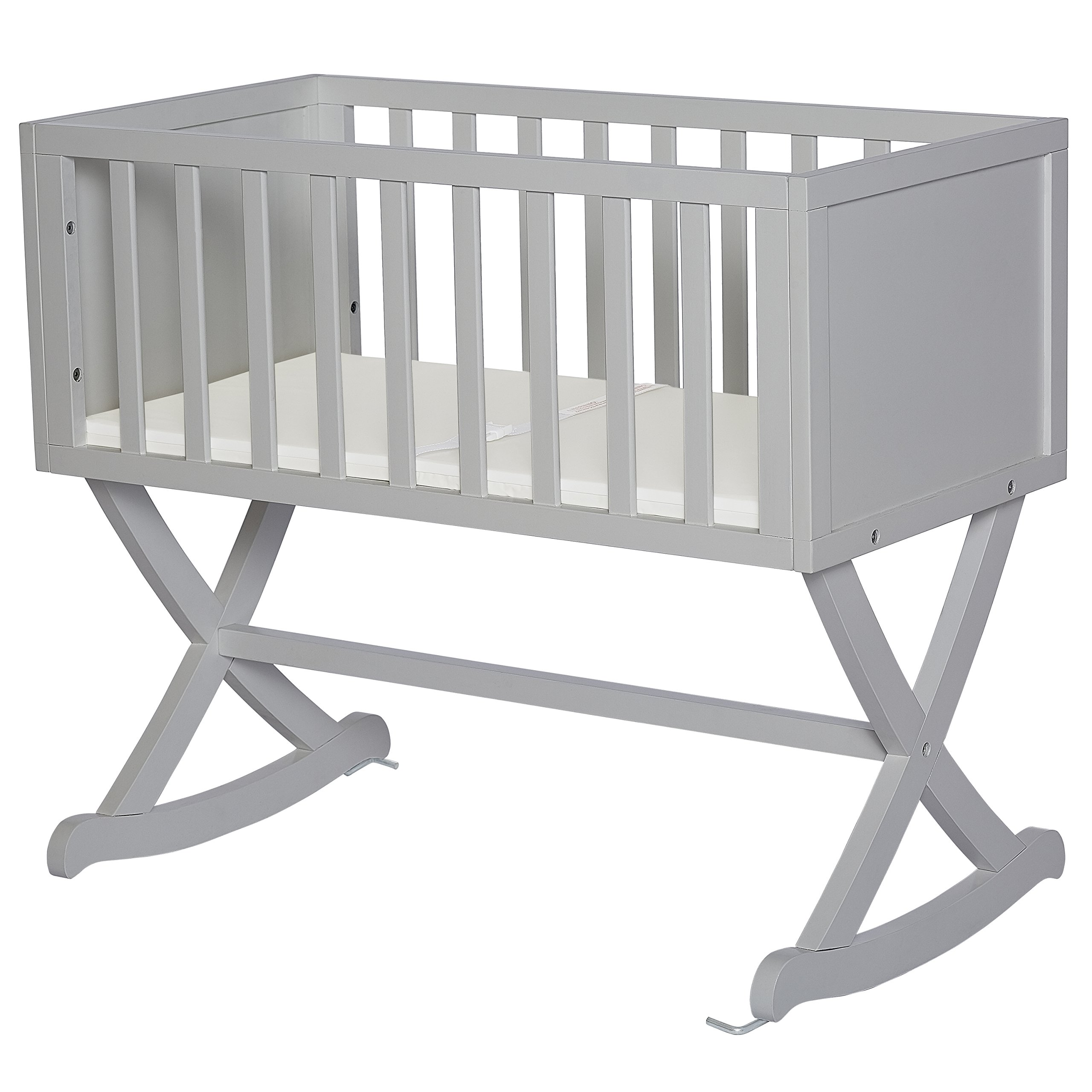 Dream On Me Haven Cradle, Pebble Grey by Dream On Me