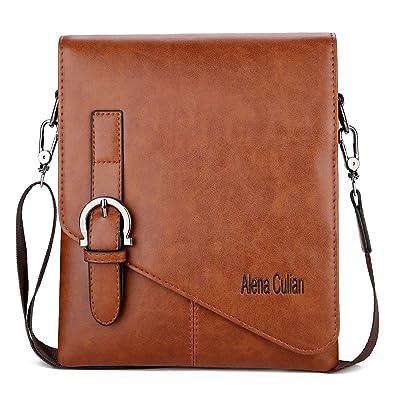 2fb3b7976596 VICUNA POLO Unique Buckle Design Mens Messenger Bag Business Men Shoulder  Bag (khaki)  Amazon.in  Shoes   Handbags