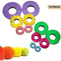 Kit Hacer Pompones 12 Piezas Plástico con Tamaños