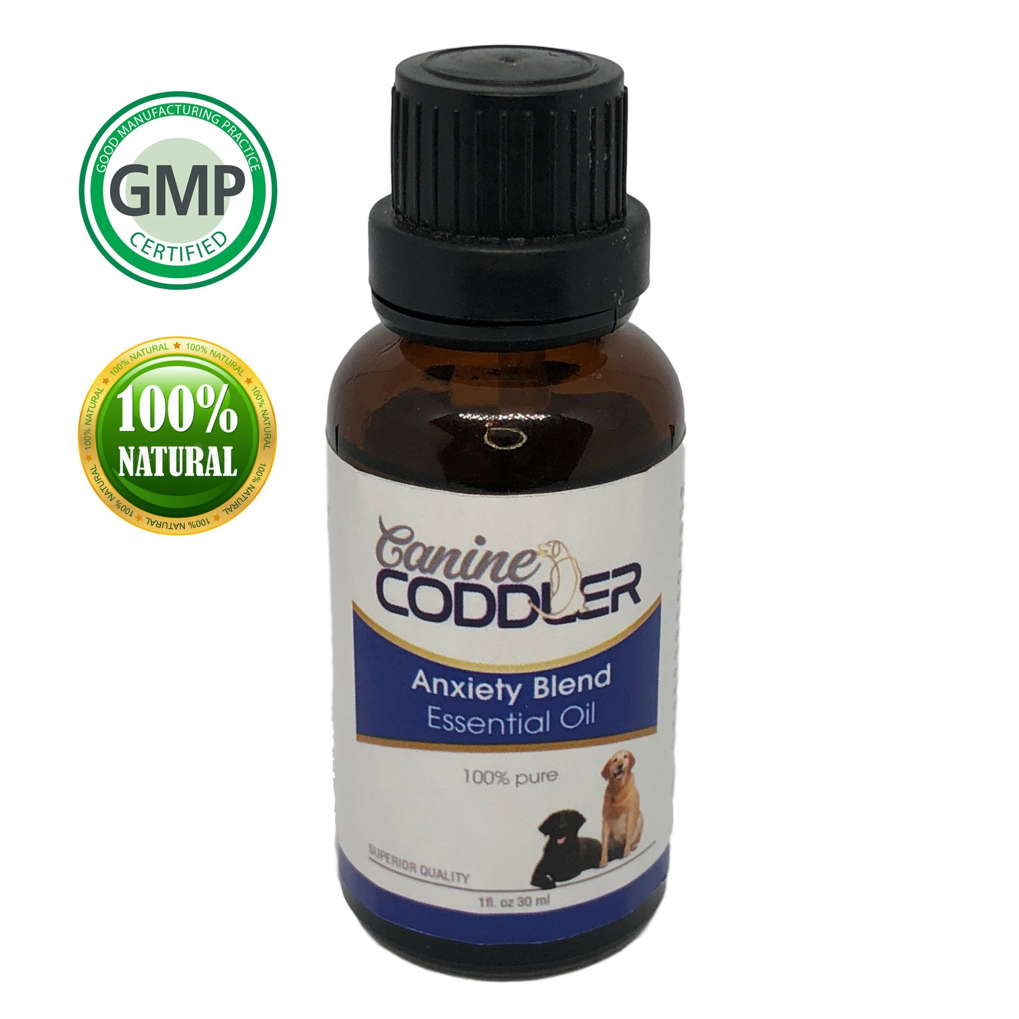 Canine Coddler Pet Calming Essential- Oil Aromatherapy Treatment for Dogs one piece bottle best to reduce Stress Separation Anxiety Ease And Calm 1 oz 30ml bottle