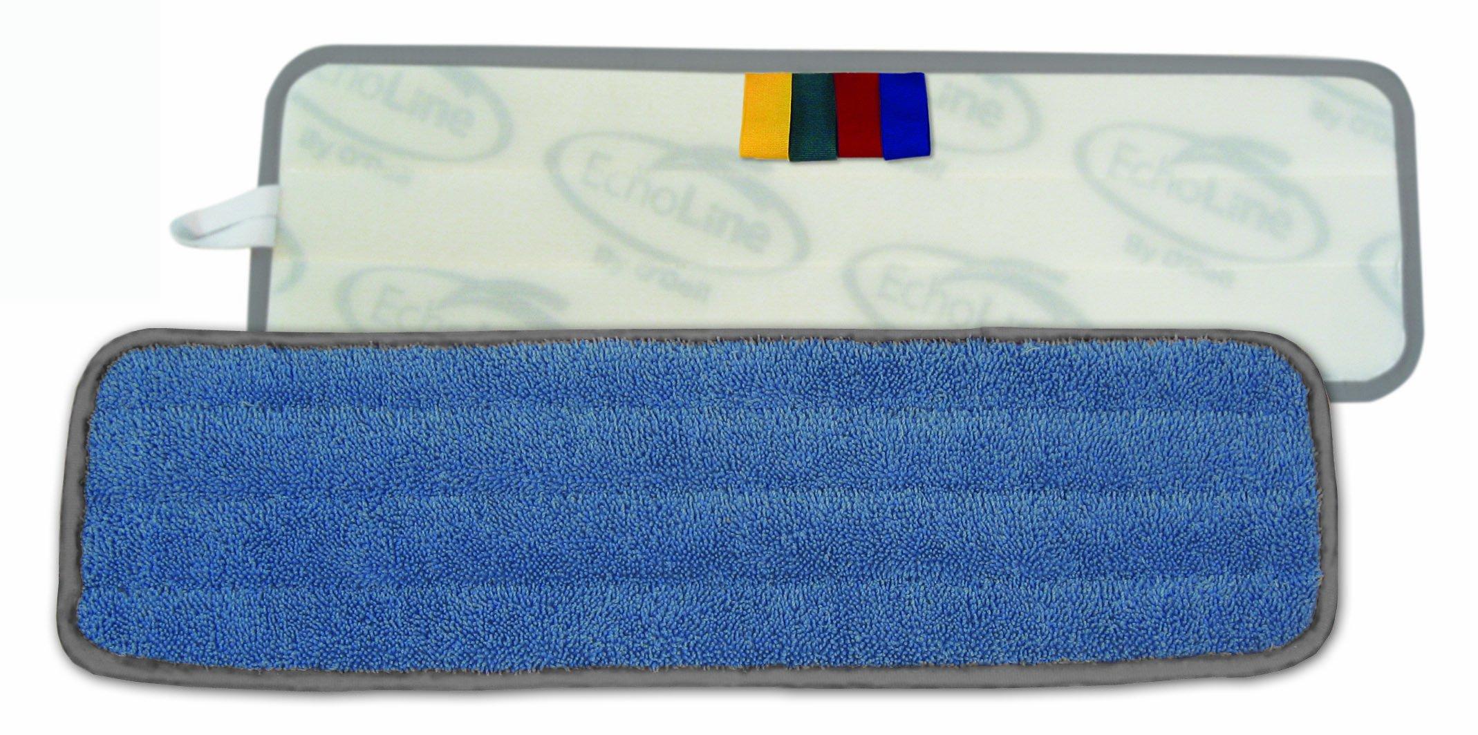 O'Dell 5 x 24'' Blue Microfiber wet pad, gray binding Color Flag MFM245B-CF