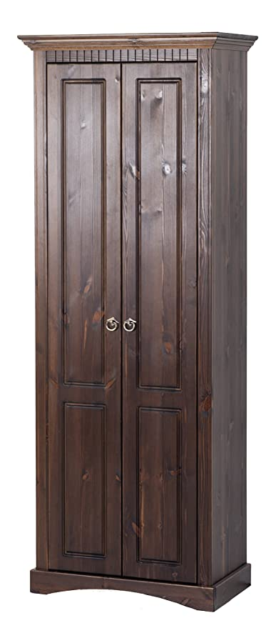 Armadio guardaroba in legno massello stile coloniale, armadio ...