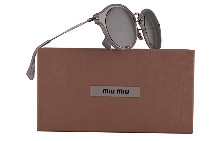 ac9262782f9a Image Unavailable. Image not available for. Colour: Miu Miu MU51SS Sunglasses  Silver ...