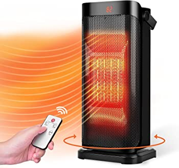 TRUSTECH 750W 1500W Electric Space Portable Oscillating Ceramic Tower Heater