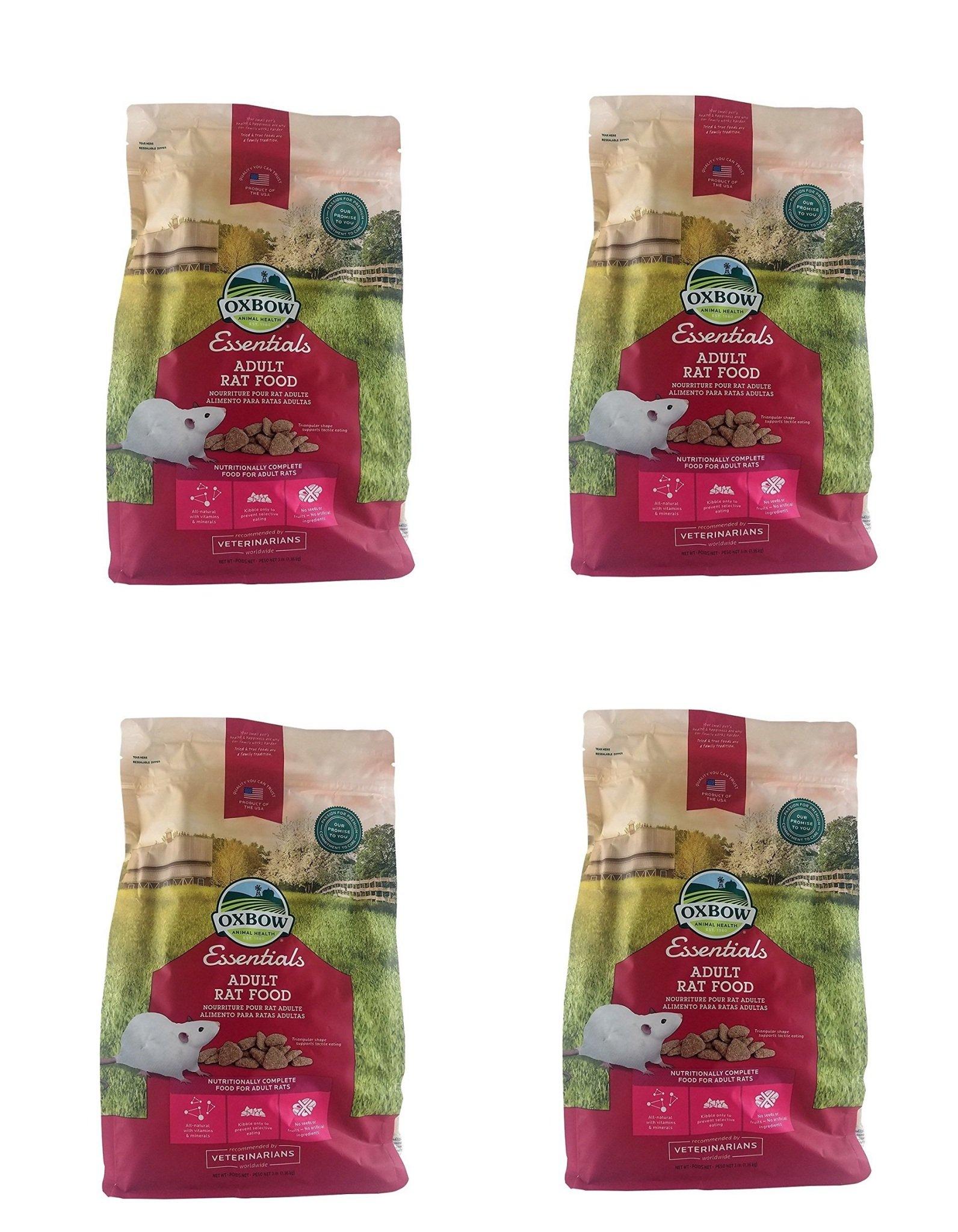 Oxbow Essentials Adult Rat Food kCVMrG, 12 Pounds